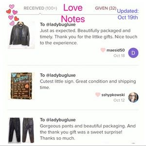 Love Notes from buyers! See 100+ below ❤️ notes